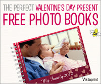 vista print free valentine's photo book