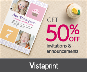 vistaprint invitations and announcement