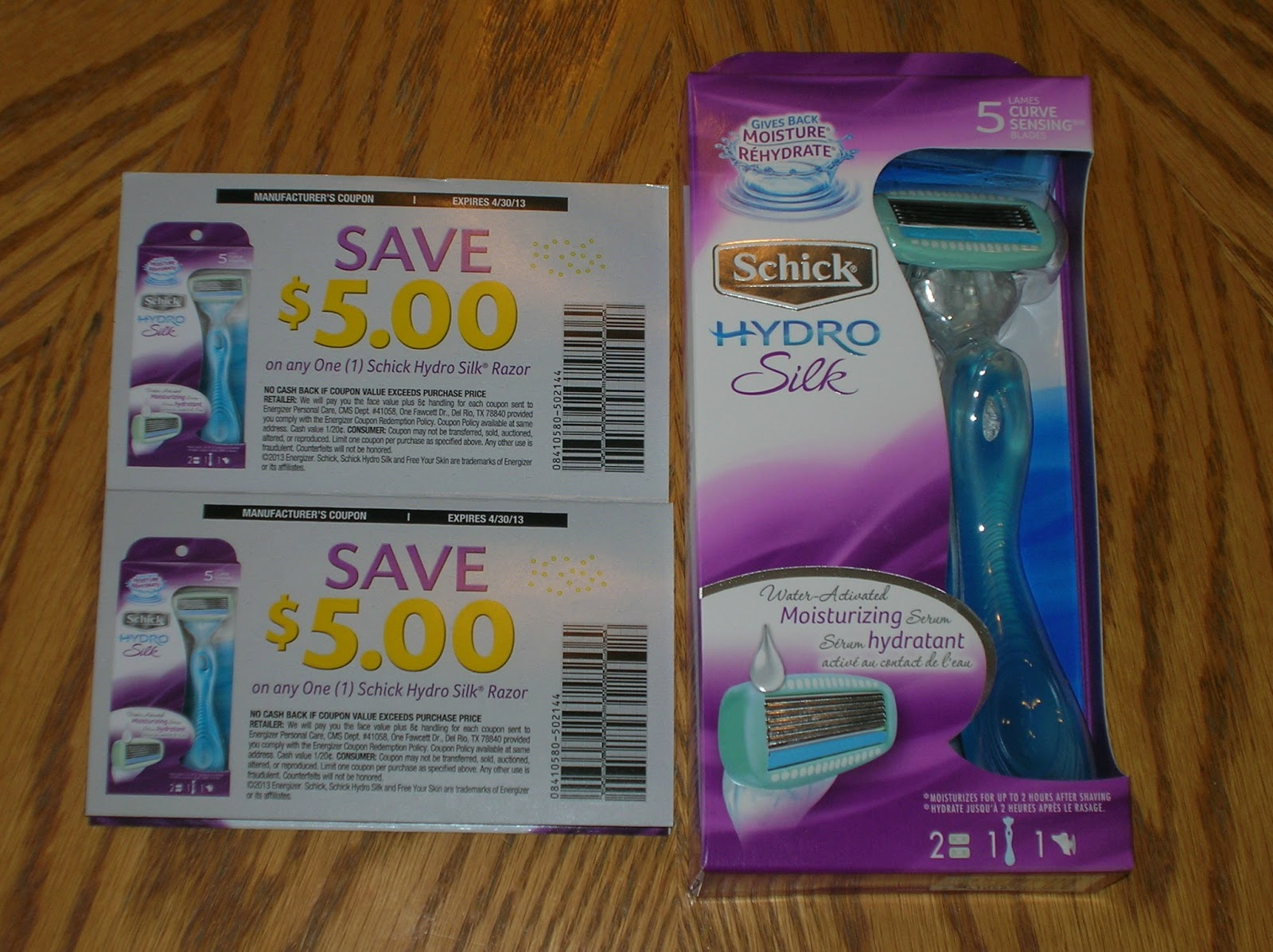 Schick hydro silk coupon canada