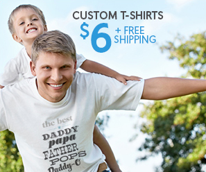 Vistaprint custom t shirt for 6 shipped cute father 39 s for Vistaprint custom t shirts