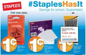 Staples back to school sale july