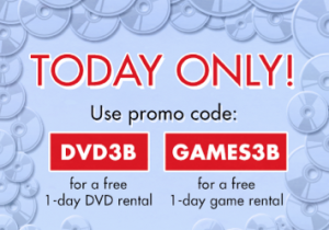 Redbox free dvd or game