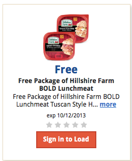 free kroger hillshire farm lunchmeat