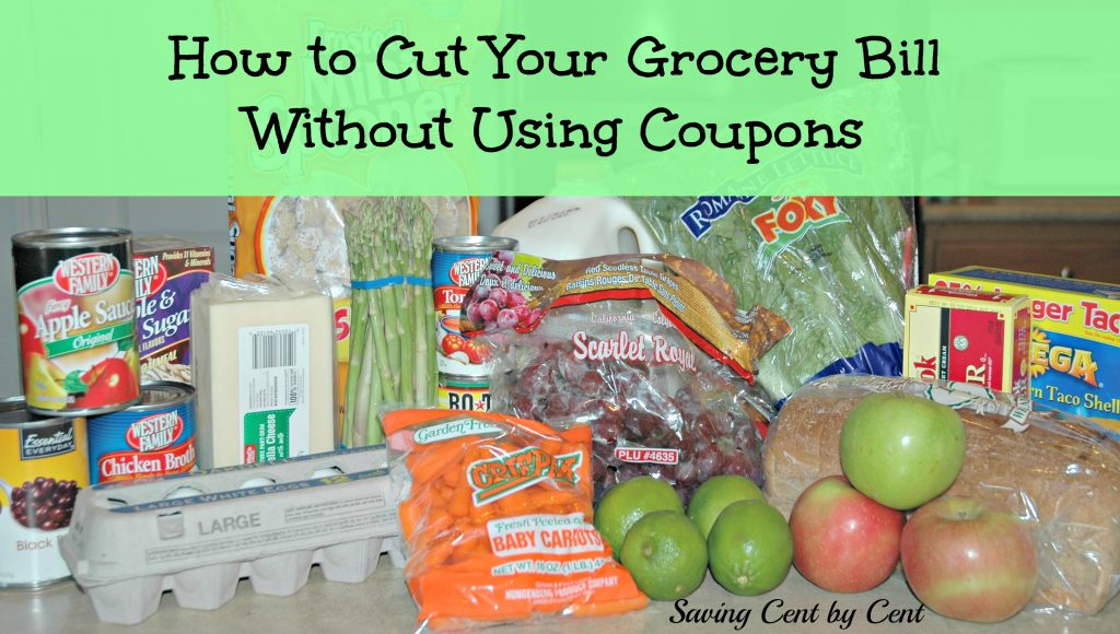 Cut Grocery Bill Without Using Coupons