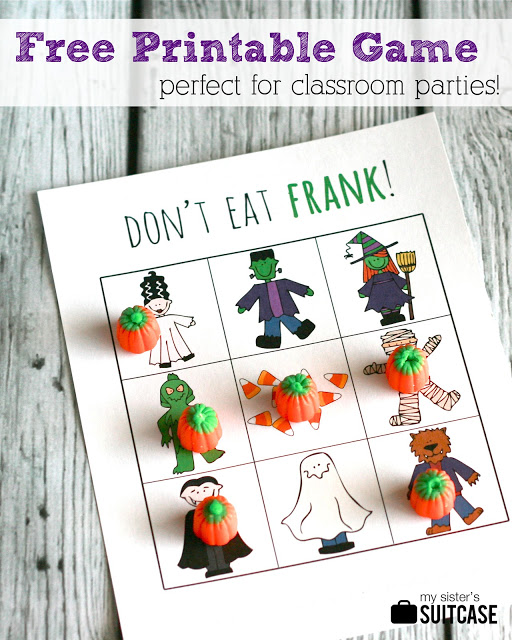 halloween activities for kids - don't eat frank game