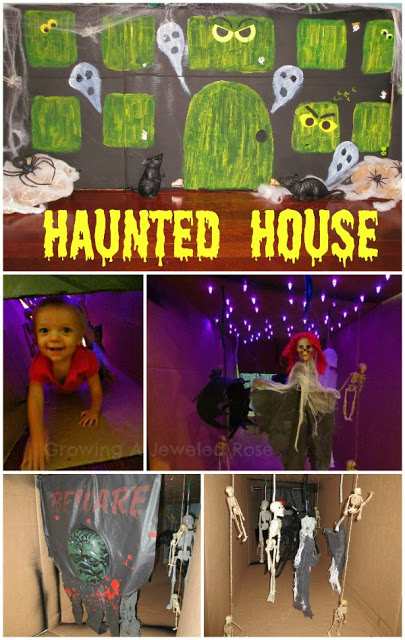 halloween activities for kids - haunted house