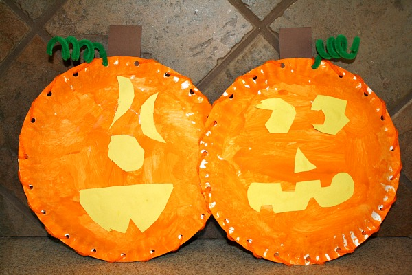 halloween activities for kids - pumpkin faces