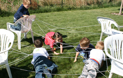 halloween activities for kids - spider web