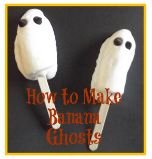 halloween treats - banana ghosts