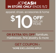 jcpenney $10 Off $25