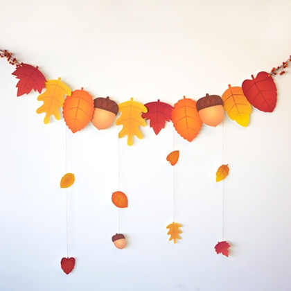 fall activities - autumn leaf garland