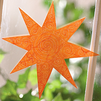 fall activities - pierced sun catcher