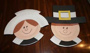 fall activities - pilgrim paper plate
